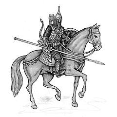 Русский дружинник XII века