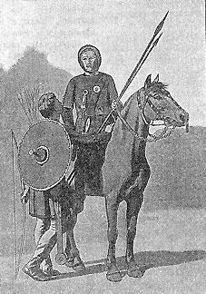 Норманнские воины, реконструкция
