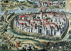 Осада Смоленска (гравюра начала XVII в)