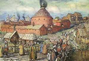 Московский Пушечный Двор на реке Неглинной. (Рисунок А.М.Васнецова)