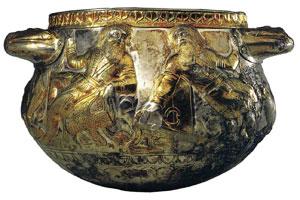 Два скифа. Чаша из кургана 'Гайманова Могила'  IV век до н.э.