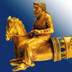 Скиф на коне. Фрагмент золотой гривны из кургана Куль-Оба  IV век до н.э.