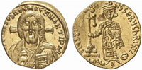 Византийский солид Юстиниана